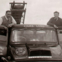1958 - Newton-le-Willows Quarry, Chas and Barry with new Thames Trader truck