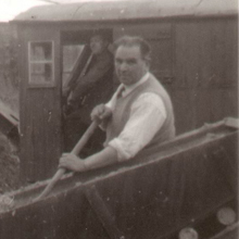 1958 - Newton-le-Willows Quarry, Chas. on the shovel, Alf Proctor on the Priestman Cub